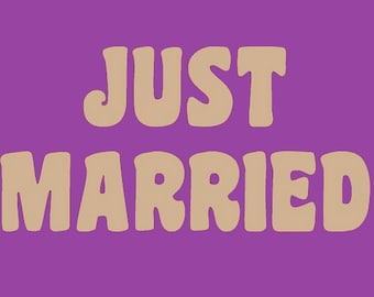 letters to paint for deco wedding - JUST MARRIED