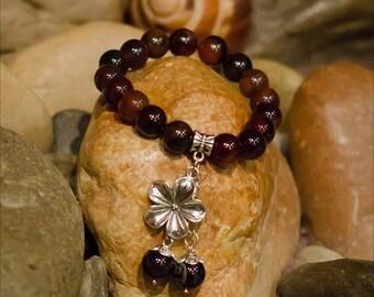 Brown Bracelet - Agate Bracelet - Goth Bracelet - Witch Bracelet - Dark Fashion - Gift For Goth - Punk Bracelet - Halloween Gift - Wicca