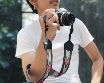 Gray Chevron - Camera strap