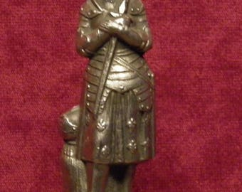 antique French statue  of Joan of Arc / Jeanne d'Arc