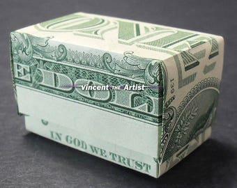 GIFT BOX Money Origami Dollar Bill Cash Sculptors Bank Note Handmade Dinero