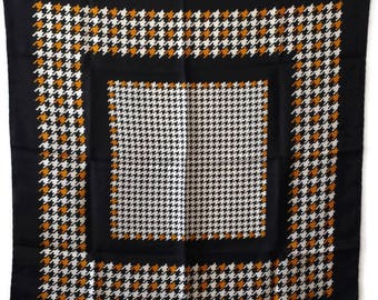 Women accessories Vintage classic Silk square scarf Stilish design Shawl Gift for her