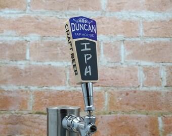 Personalized Custom Chalkboard Beer Tap Handle- Short Version - Kegerator Tap Handle