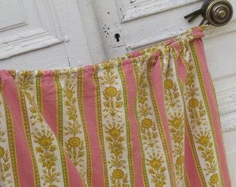 Vintage French 1920s Ticking Sack Laundry bag Printed 1920s Ticking  fabric Wool Sack