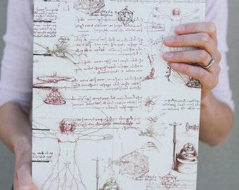Da Vinci Notebook Sketchbook or Journal // Coptic