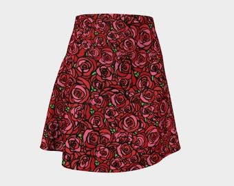 Flared Skirt - Rose Bouquet