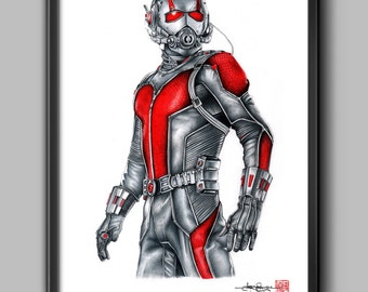 Ant-Man - Illustrated Giclee Print