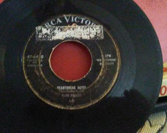 Heartbreak Hotel I was the One Elvis Presley RCA Victor 45 rpm single record