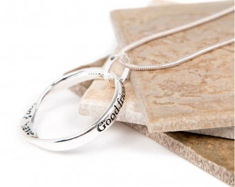 Angels Message slogan necklace perfect gift (Good friends are like angels...you don't have to see them to know they are there....)