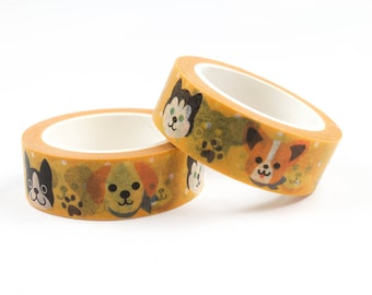 Cute dog washi tape