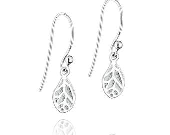 Sterling silver, petals earrings