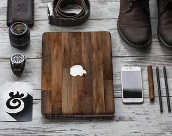 Dark Varnished Wood Vinyl Skin Decal Apple Macbook Air , Macbook Pro , New Macbook Pro 13 Touch , New Macbook Pro 15 Touch
