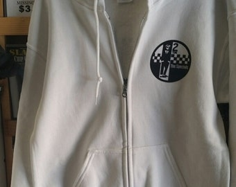 The SPECIALS ZIPPER Hoodie LARGE white