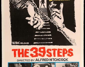 Original Movie Poster - The 39 Steps (1935) Original R1960s Linen-Backed Movie Poster