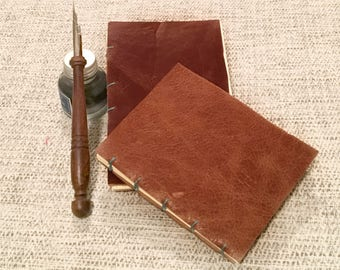 Handmade Genuine Leather Journal, Notebook Coptic Bound Journal, Writing Journal