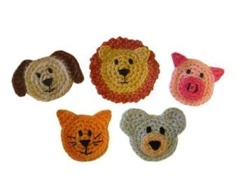 Crochet cat applique etsy animal appliques pdf crochet pattern instant download dt1010fo