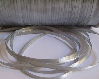 10 m gray 3mm satin ribbon