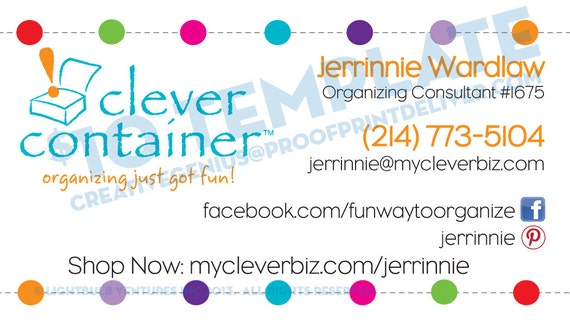 Items similar to clever container business card template on etsy colourmoves