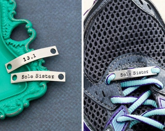 Running Shoe Tags • Marathon Runner Gift Running Shoe Charm • Stamped Shoe Bars •Girls Track Team Gift Running Group Gift Jogger • QQQ