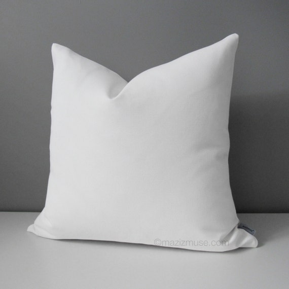 Sofa Pillows Contemporary: Decorative White Outdoor Pillow Cover Modern Throw Pillow