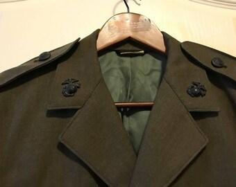 Vintage  Marines Military Green coat