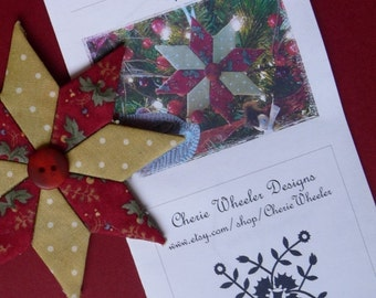 PDF Pattern for No-Sew Quilted Star Ornaments
