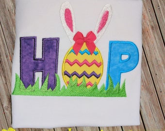 HOP Easter Bunny and Egg Shirt or Bodysuit