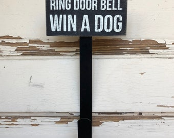 AG Designs Pet Decor - Ring Door Bell Win A Dog Wreath Hanger