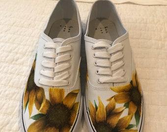 Handpainted Sunflower Shoes