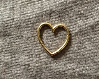 Heart Connector -  Gold