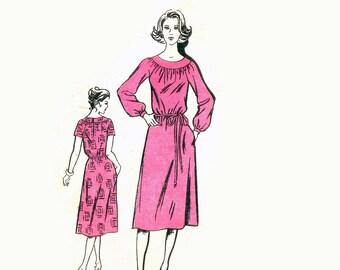 70s uncut Adele Simpson Dress pattern Softly Gathered Dress pattern 34-26.5-36 Designer Dress pattern Mail Order pattern Designer 815