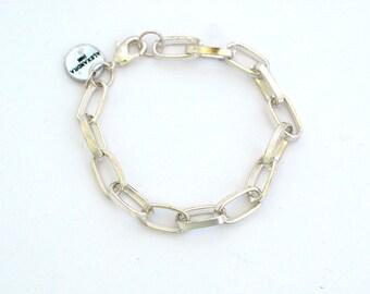 Simple chain bracelet in metal, chain link bracelet, tiny chain bracelet, minimalist bracelet- adjustable bracelet