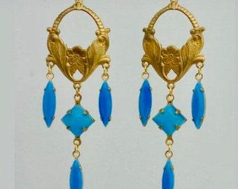 Art Nouveau Earrings Edwardian Earrings Art Deco Earrings Victorian  Earrings Bridal  Earrings