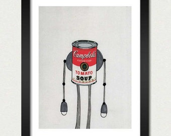 Mike Slobot | Robot Art | The Campbell's Soup Bot