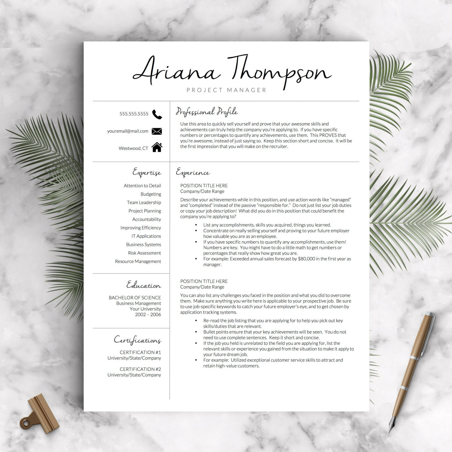 🔎zoom  3 Page Resume