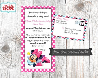 EDITABLE INSTANT DOWNLOAD Miniature Minnie Mouse Letter