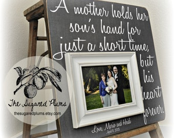 Parents Wedding Gift, Parents of the Groom, Father of the Groom Gift, Mother of the Groom Gift, Thank You, Personalized Picture Frame 16x16