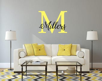 Monogram Wall Decal - Initial Wall Decal - Monogram Decal - Name Decal - Monogram Sticker - Monogram Letters