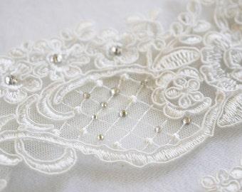 Off White Wedding Keepsake Garter Only