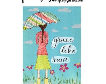 Grace Like Rain Mixed Media Digital Download