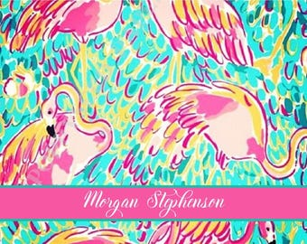 Lilly Pulitzer personalized folded note cards, Lilly Pulitzer stationary, preppy, Thank You Notes