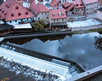 Architectural print, River in City, Fine Photo print, Urban Wall Art print, Aerial River print, Water City Print, Urban Art print, Fine Art