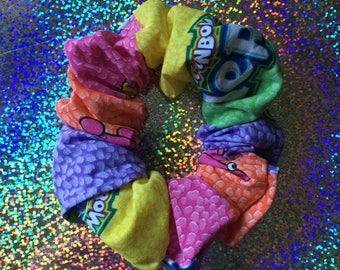 A Box of RAINBOW NERDS Hair Scrunchie