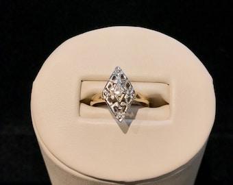 Vintage Diamond Filigree Ring VRW-66