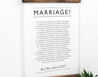 The Art of Marriage Print Wedding Poem with Personalized