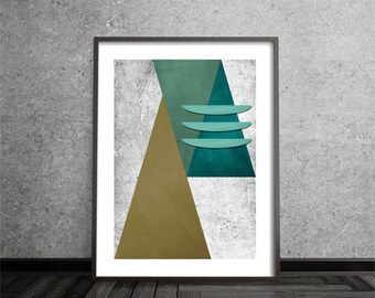 Abstract, Art, Poster, Mid Century Modern, Minimalist, Modern Art Print, Geometric, Contemporary