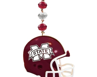 MISSISSIPPI STATE Bulldogs Football Helmet MAGNETIC Ornament,Msu Bulldogs,Msu Ornament,Hail state,Msu football,Mississippi,Msu gift