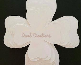 hard copy paper flower template/paper flowers/ backdrop/flores de papel