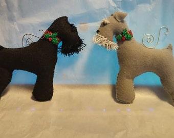 Schnauzer Holiday ornaments