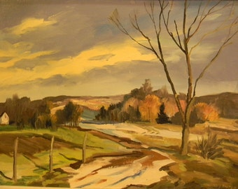 Willard Sauter . listed artist . Landscape Oil Painting